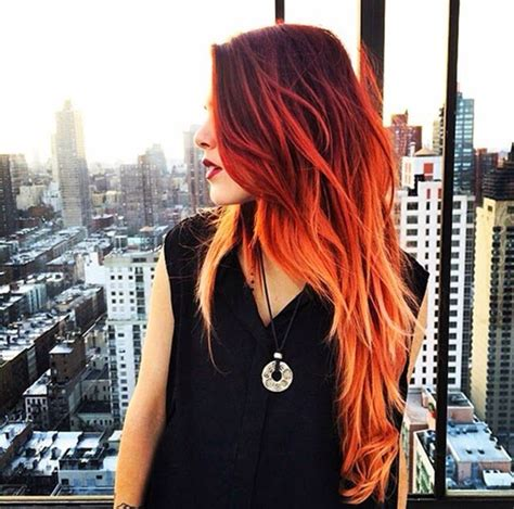 Different Shades Of Hairstyles by Ombre Ruiva H A I R Hair Coloring Hair