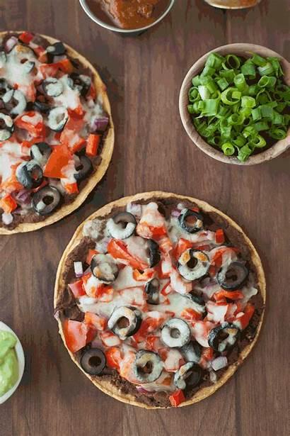 Pizza Mexican Skinny Recipe Bean Bikini Snixykitchen