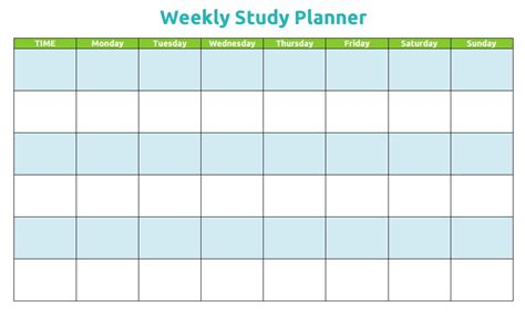 study schedule template search results for weekly template planner calendar 2015