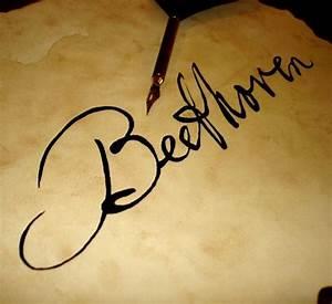 Hand inked Ludwig van Beethoven signature / autograph ...