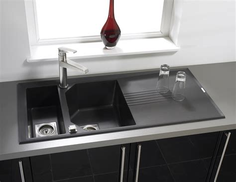 kitchen sinks for uk astracast helix 1 5 bowl composite rok metallic inset sink 8592