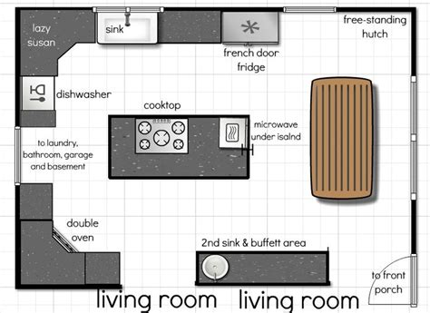 small open kitchen floor plans 18 best kitchen floor plans images on