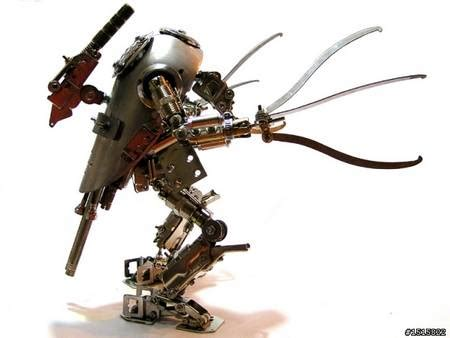 ultra cool handmade metal robots   transformers