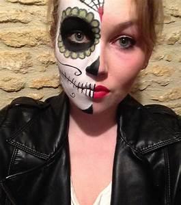 Maquillage Squelette Facile : maquillage halloween facile easy halloween make up santa ~ Dode.kayakingforconservation.com Idées de Décoration