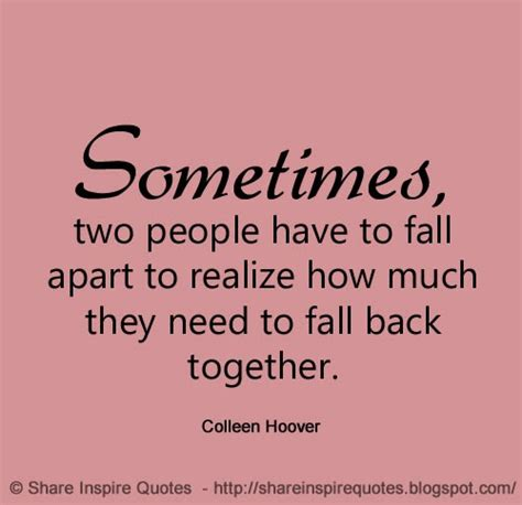 I Need To Fall Back Quotes