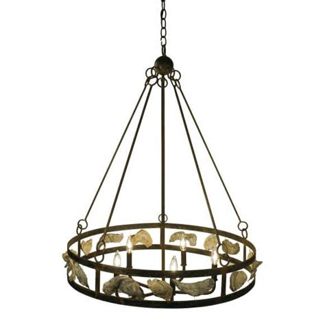 wagon wheel shell chandelier for sale