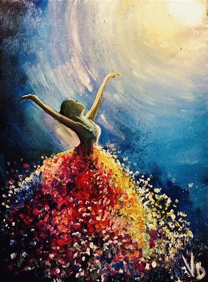 Acrylic Paintings Painting Artnight Simple Canvas Dance