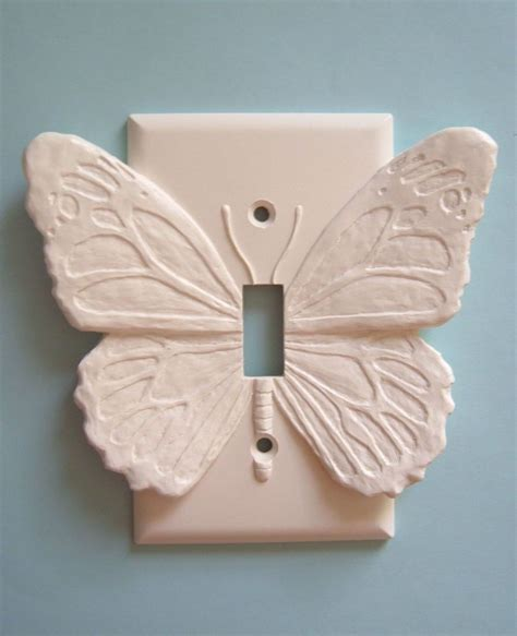 details  butterfly light switch plate wall cover