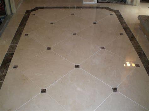 terico tile santa clara custom marble floor with 3 x3 clipped corners with