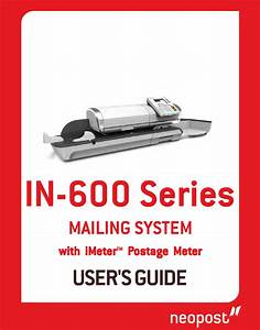 Neopost In-600 Series User Manual