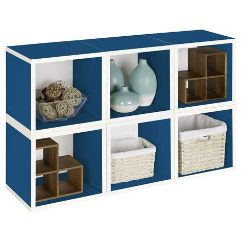 Modular Cube Bookcase by Way Basics Modular 6 Cube Bookcase Blue Do Not Use At
