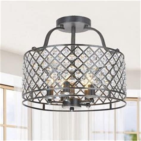 5 light antique bronze flush mount chandelier kitchen