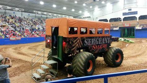 monster truck show austin tx sergeant smash ride in a monster truck youtube