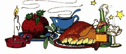 Christmas Dinner Clipart Clip Party Feast Holiday