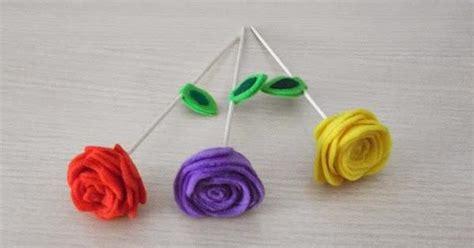Rosas con fieltro Manualidades