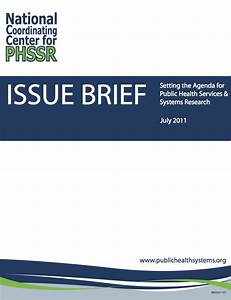 Research Agenda and Inventory   Public Health Services and ...