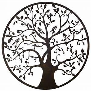 Arbre De Vie Deco : grande applique murale fronton style arbre de vie d coratif fixer en fer patin marron noir 1 ~ Teatrodelosmanantiales.com Idées de Décoration