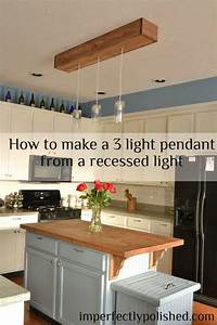 How to do recessed lighting in kitchen : Diy kitchen pendant lights how to change a recessed light
