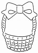 Easter Basket Coloring Empty Printable Clipart Clip Pattern Baskets Cliparts Designs Library Popular Quotes sketch template