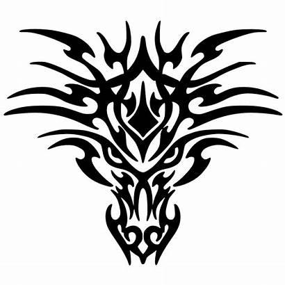 Dragon Clipart Clip Face Clipartpanda Tribal Drawing