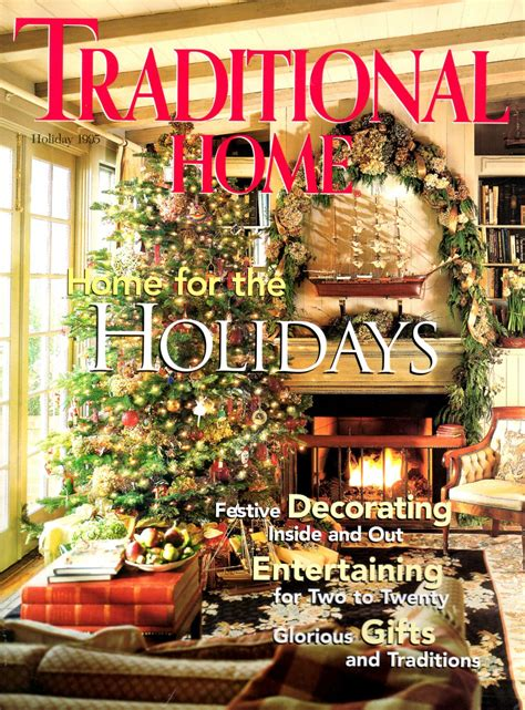 traditional home magazine holiday   issue