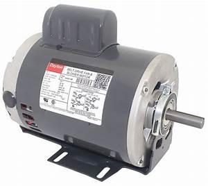 Dayton 1 Hp Belt Drive Motor  Capacitor