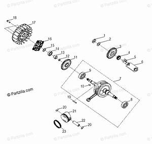 Polaris Side By Side 2017 Oem Parts Diagram For Engine