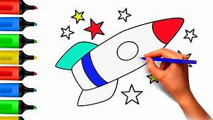 Coloring Pages. Rocket. Space Shuttle. painting. Drawing ...