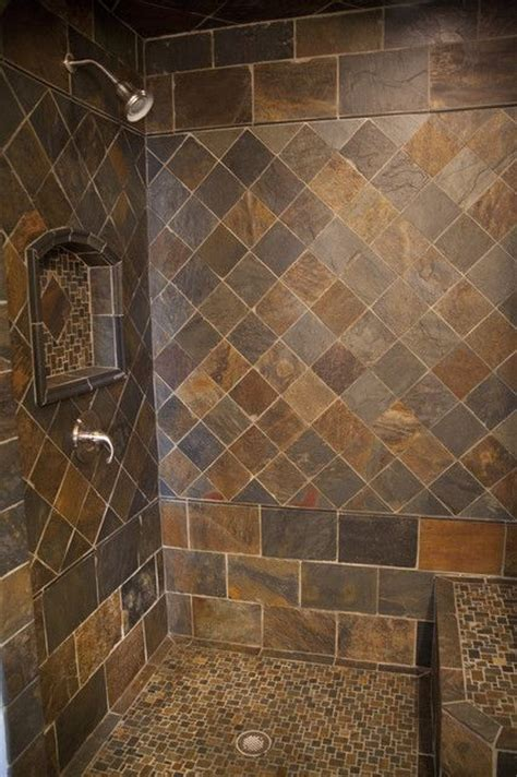 Bathroom Slate Tile Ideas by 25 Best Ideas About Slate Shower On Slate