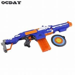 OCDAY Kids Toy Gun Soft Bullet Guns Electric Shooting ...