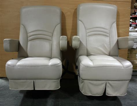 rv furniture used rv leather set of 2 captain chairs for