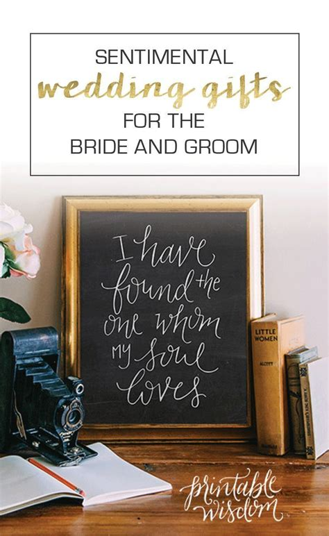 15 Sentimental Wedding Gifts for the Couple Sentimental