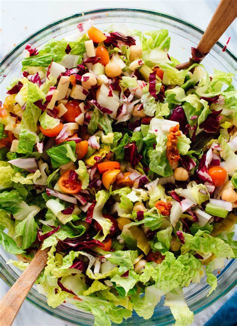 healthy asian garden vegetarian italian chopped salad cookie and kate