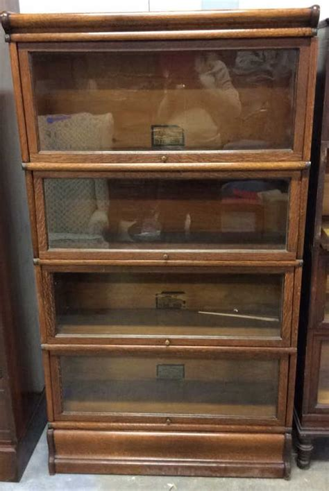 Oak Barrister Bookcase by Antique Oak And Glass Barrister Bookcase