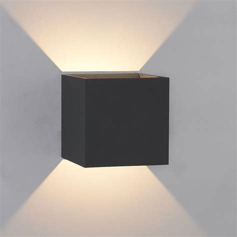 bruck 105040bk qb contemporary black led outdoor wall