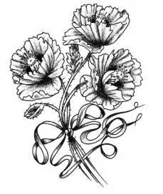 Poppy Flower Tattoo Drawings