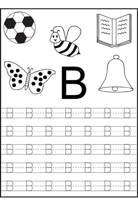 letter writing worksheets for preschool free printable letter b worksheets for kindergarten 270