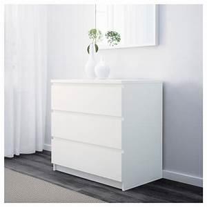 Commode Scandinave Ikea : malm chest of 3 drawers white 80 x 78 cm ikea ~ Teatrodelosmanantiales.com Idées de Décoration