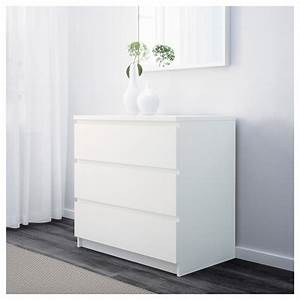 Ikea Wickelkommode Malm : malm chest of 3 drawers white 80 x 78 cm ikea ~ Frokenaadalensverden.com Haus und Dekorationen