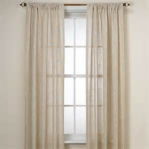b smith barbados natural window curtain panel bed bath