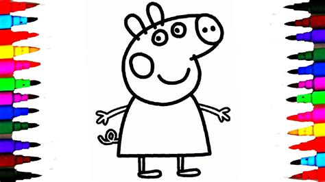 coloring peppa pig drawing pages  coloring book