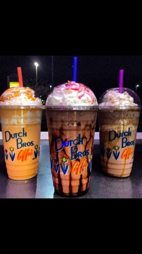 With over 300 locations spanning seven western states, dutch bros has grown into a veritable caffeination empire since opening in 1992. Mango smoothie on left, double chocolate freeze with the works in the middle& a Carmelizer on ...