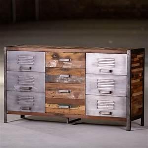 Commode Style Industriel : commode industriel 9 tiroirs ~ Teatrodelosmanantiales.com Idées de Décoration