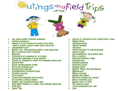 field trip ideas outings field trip ideas gs field trip ideas pinterest
