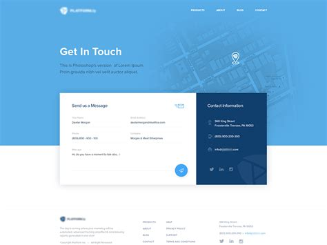 contact  page  vukasin ferendjan dribbble