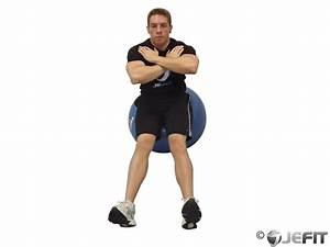 Seated Hamstring Stretch on Exercise Ball - Exercise ...