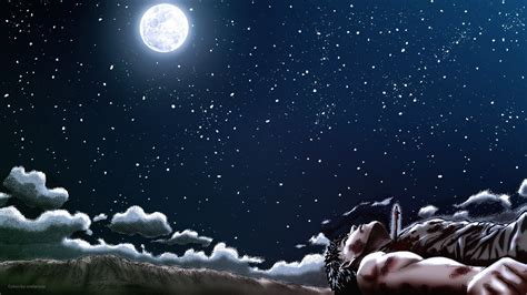 Anime Moon Wallpaper - wallpaper anime moon berserk moonlight sky