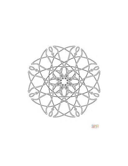 Coloring Abstract Mandalas Mandala Pages Printable Drawing
