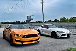 A Sneak Peek of the Mustang GT 350 and the New Toyota Supra going Head 2 Head on Tail of the ...