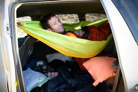 Car Hammocks by Minivan Turned Rv By Outside